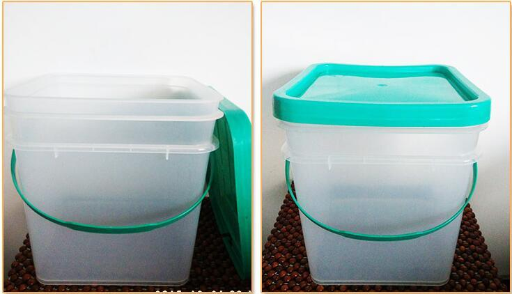 15L HDPE/PP Food Grade Square Plastic Bucket