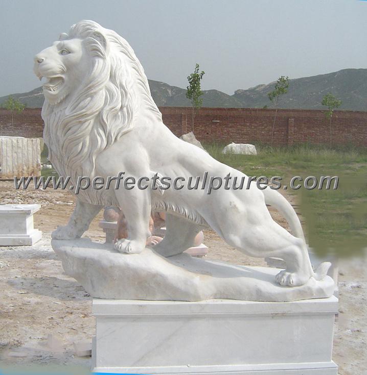 China Stone Granite Marble Lion For Garden Statue Animal