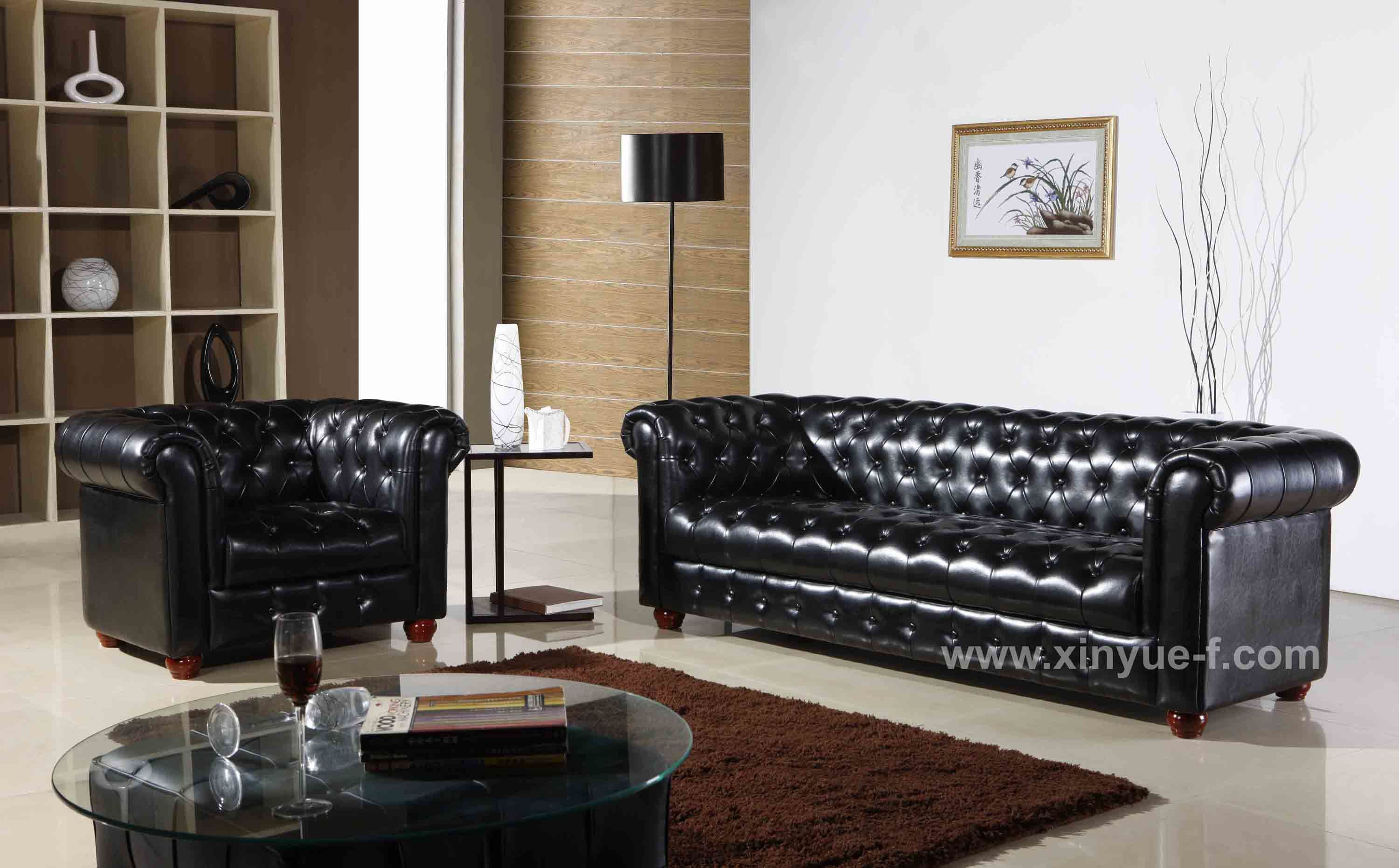 ... Hotel Office Leather Sofa - China Leather Sofa, Chesterfield Sofa