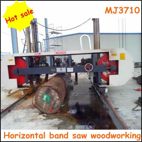 Mj3710 CNC Horizontal Log Cutting Band Saw Machine