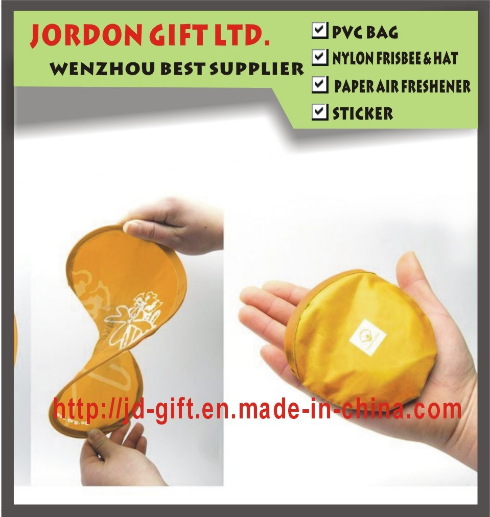 2016 Cheap & Fan Customized Promotion Gift---Foldable Polyester Frisbee