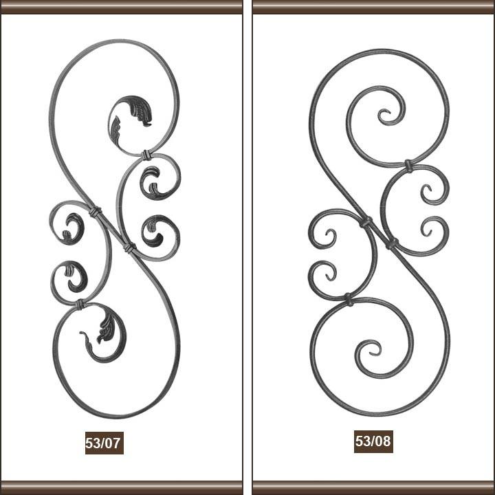 China wrought iron scroll crafts