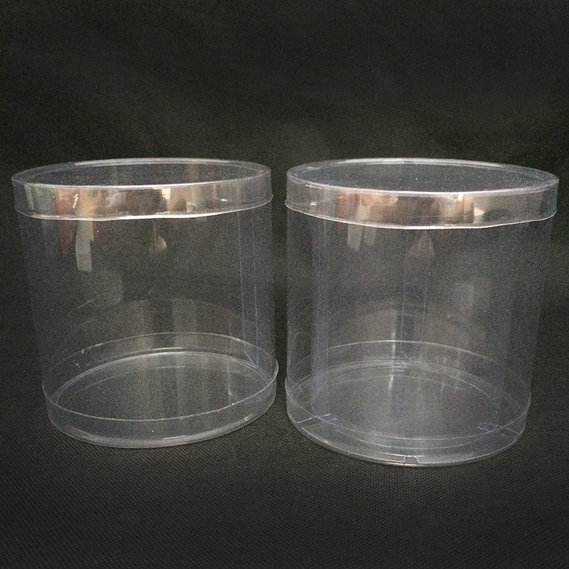 Clear plastic cylinder tubes (PET round box)