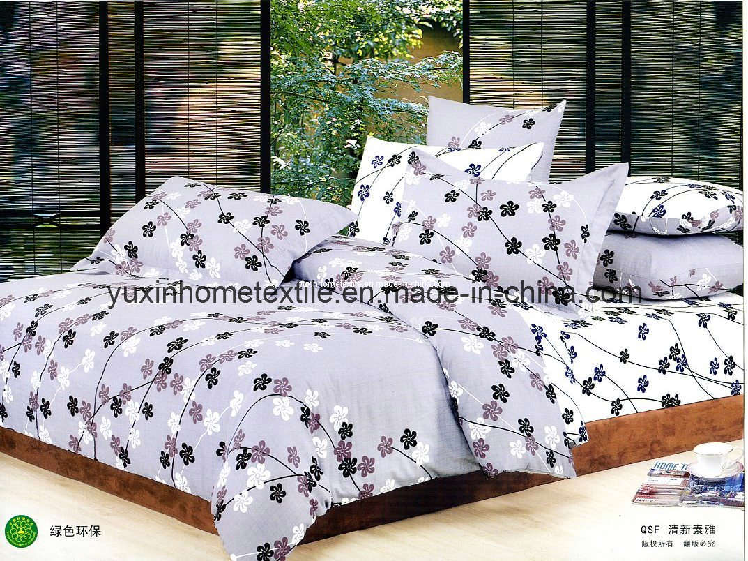 Cotton Sheet Sets, Bed Sheet, Pillow Case, Hometextile (YX-C605 ...