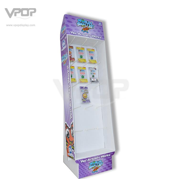 Ws Peg Hook Cardboard Floor Display for Small Toys