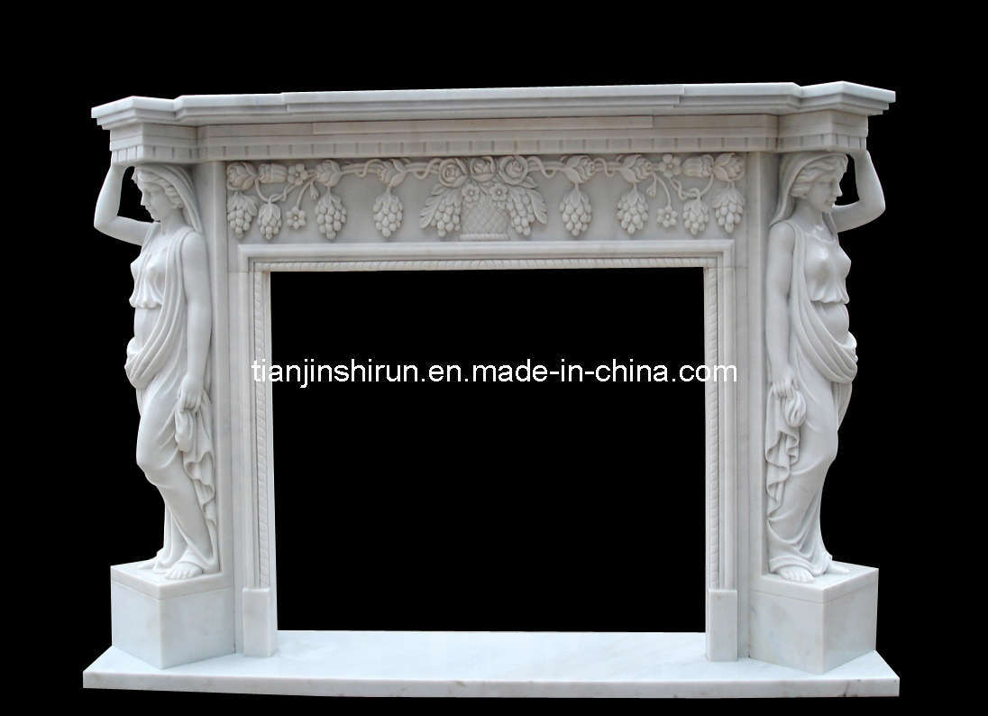China Marble Lady Sculpture Fireplace (1940) Photos & Pictures ...