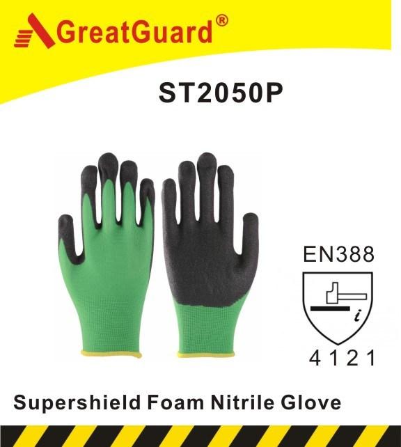 Sandy Nitrile Glove-Hi-Vis Yellow (ST2050HVY)