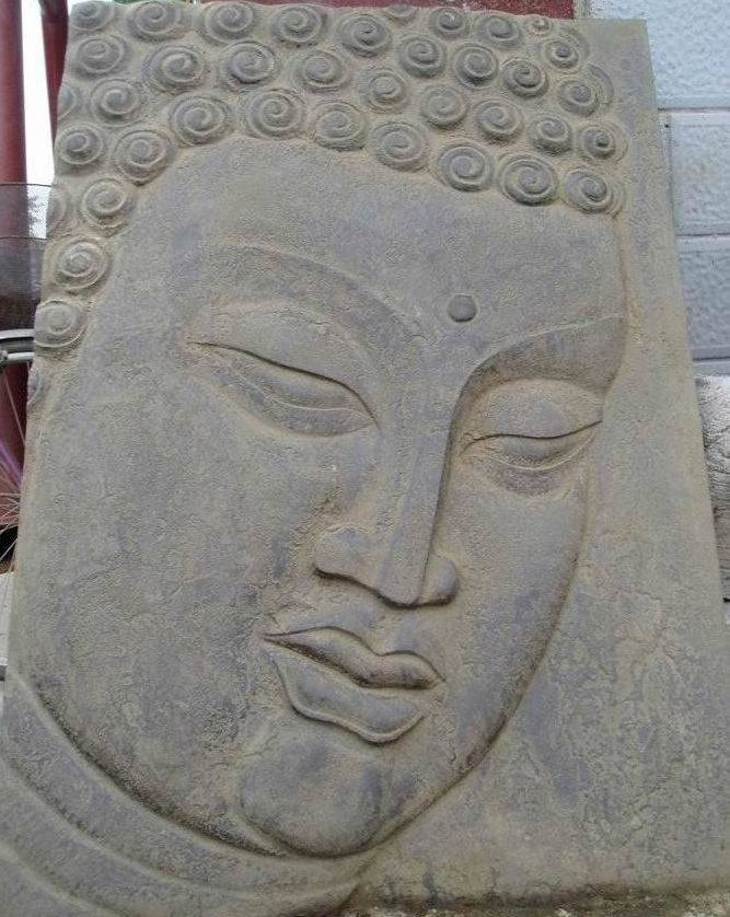 China buddha head mh s stone carving