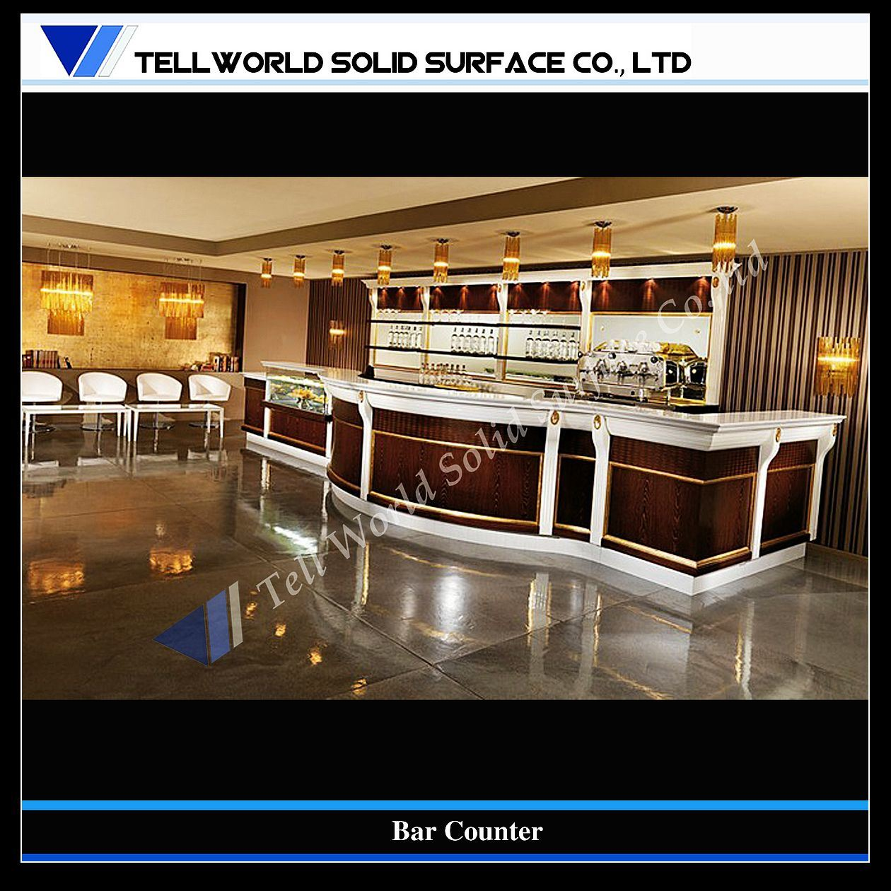 China customized design modern commercial bar counter tw 102 photos pictures made in - Contemporary bar counter design ...