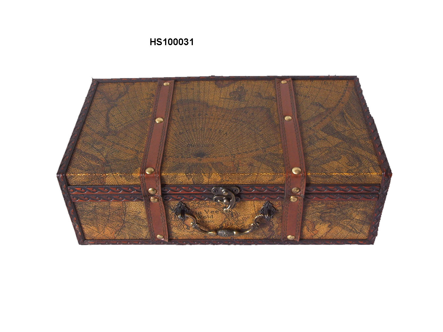 China Antique Wooden Box Suitcase Hs100031 China