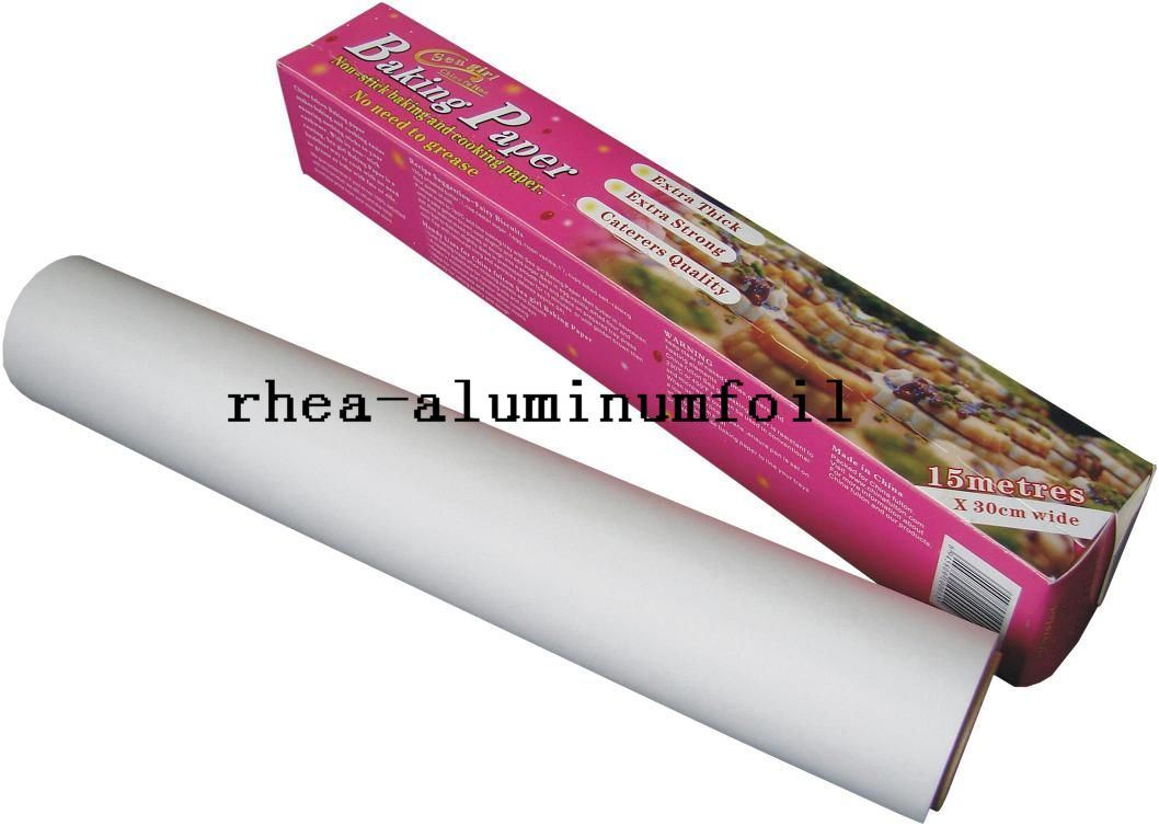 baking paper Parchment paper is grease- and moisture-resistant paper specially treated for oven use it is very versatile -- use it to line cake molds and baking sheets, to wrap fish and other dishes that are cooked en papillote, and to cover countertops during messy tasks to.