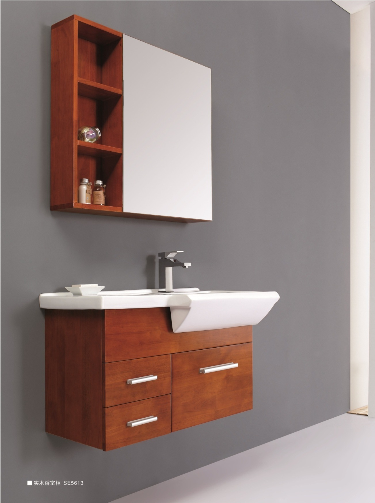 china solid wood bathroom cabinet se5613 china bathroom cabinet