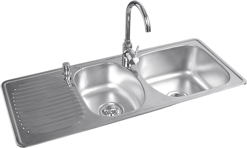 Stainless Steel Double Sinks (25122) - China kitchen sinks, stainless ...