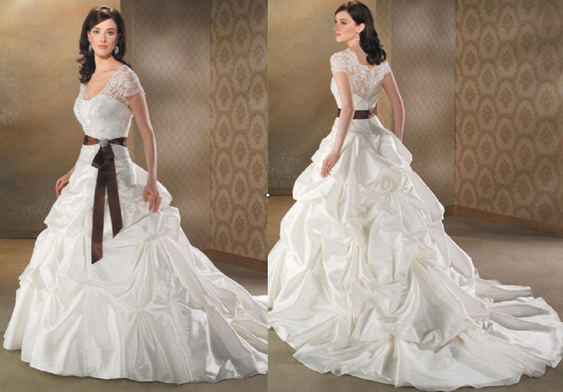 2 Tone Wedding Gowns : China embrodiderd two tone wedding dress kzl