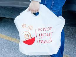 High Density Wave Top Plastic Retail Bags