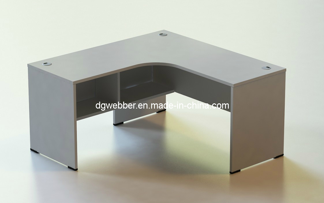 china l shape desk with shelf photos pictures made in. Black Bedroom Furniture Sets. Home Design Ideas