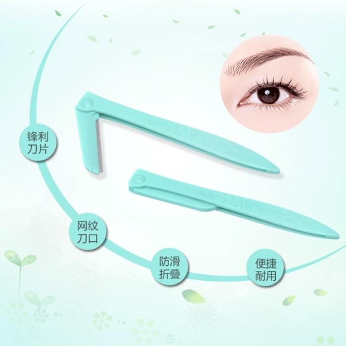 China Eyebrow Shaper Disposable Eyebrow Razor Plastic Eyebrow Trimmer