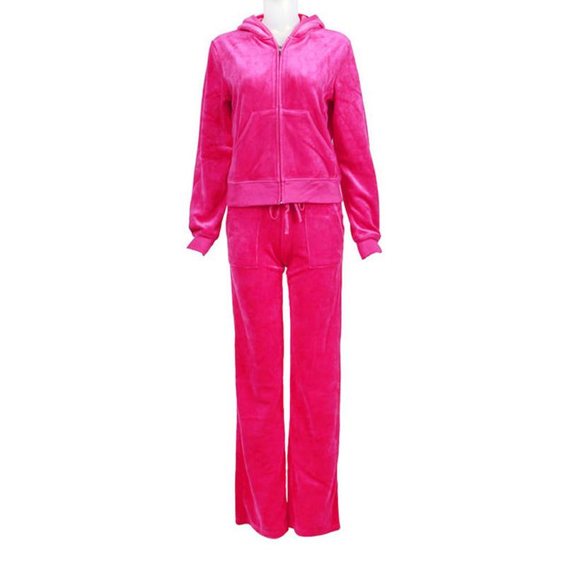 Fashion Leisure Ladies Velvet Suit (002)