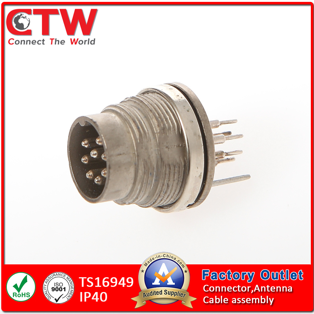 M16 Male Panel Side Connector