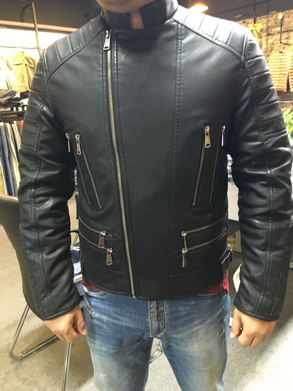 Full Zipper Men Motorcycle Sport PU Leather Outdoor Wear (SAT003)