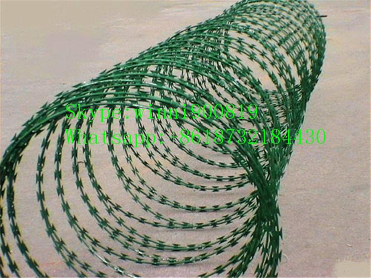 China Supplier High Quality Galvanized Razor Barbed Wire/Concertian Wire Coil/Concertina Razor