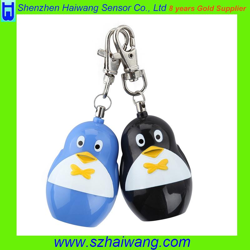 Ce RoHS 120dB Economic Keyring Penguin Shape Personal Alarm SA260