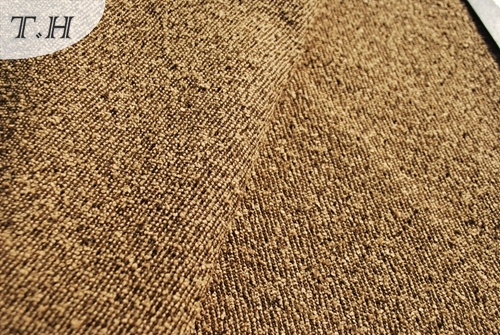 Brown 100% Polyester Chenille Plain Sofa cloth (FTH31011)