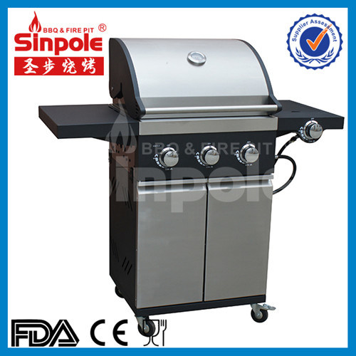 Stainless Steel 4 Burner Gas Grill with Ce/GS Approved (KLD6005)