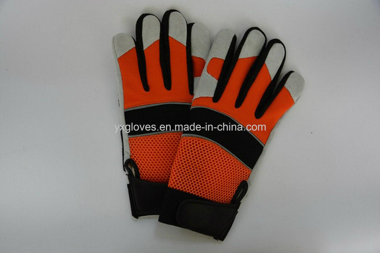 Mechanic Glove- Silicon Glove- Safety Glove-Labor Glove-Work Glove-Leather Glove