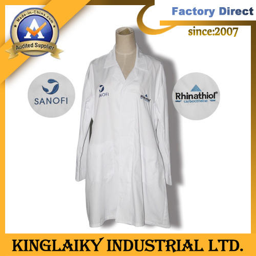 Customized Lab Coat with Logo Embroidery (KLC-01)