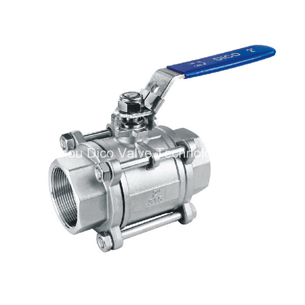 CF8/CF8m/CF3/CF3m Heavy Type 3 Pieces Ball Valve with Lock