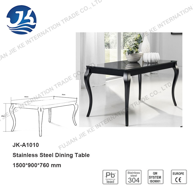 Europe Design Furniture Dining Table with Artistic Stainless Steel Legs