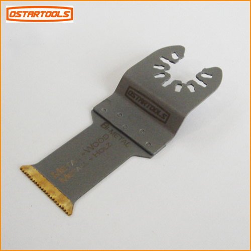 "Bi-Metal Titanium Coated Multi Function Oscillating Saw Blade for Metal Cutting (44mm/ 1-3/4"")"