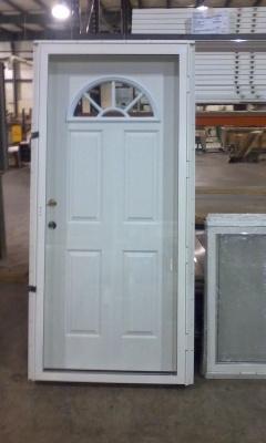 Half Moon Vault Glass Prehung Steel Door