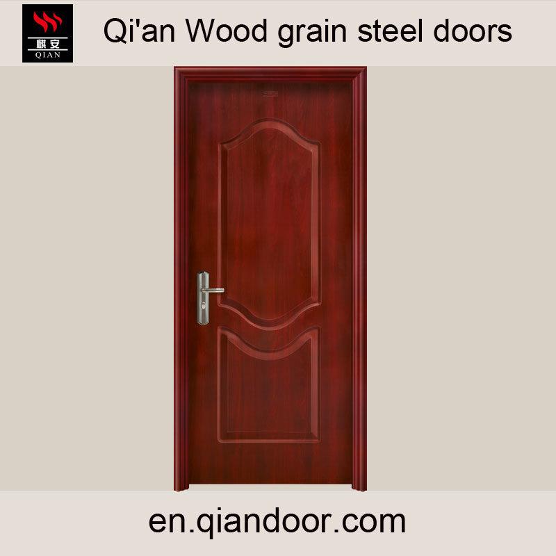 Black Walnut Veneer Steel Door with Fireproof Board