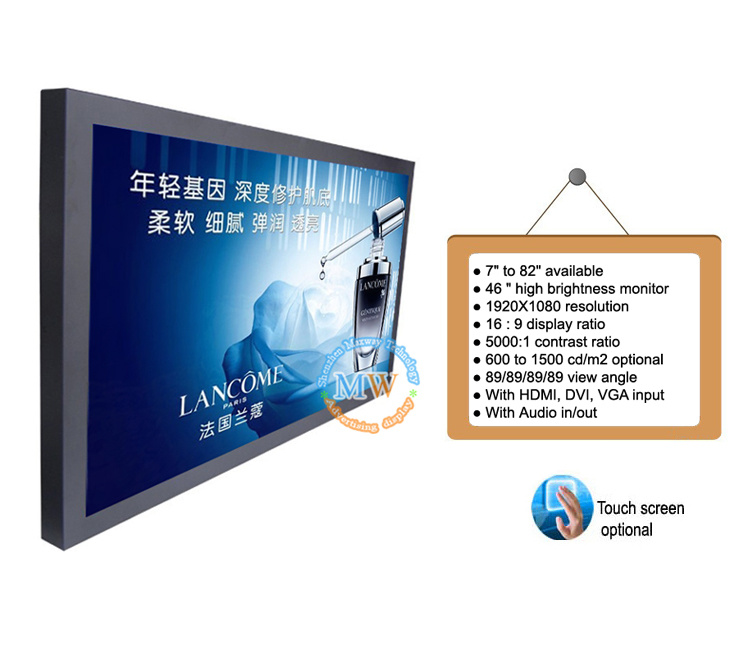 Full HD 1080P 46 Inch China Shenzhen Wholesale TFT Monitor for LED LCD TV (MW-461MBH)