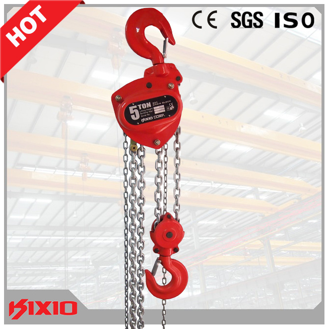 5 Ton Manual Chain Block Hoist Hand Operated