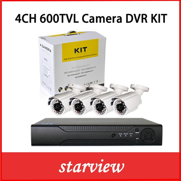 Cheap 4 Channel CCTV Security Camera DVR Systems Waterproof DVR Kit