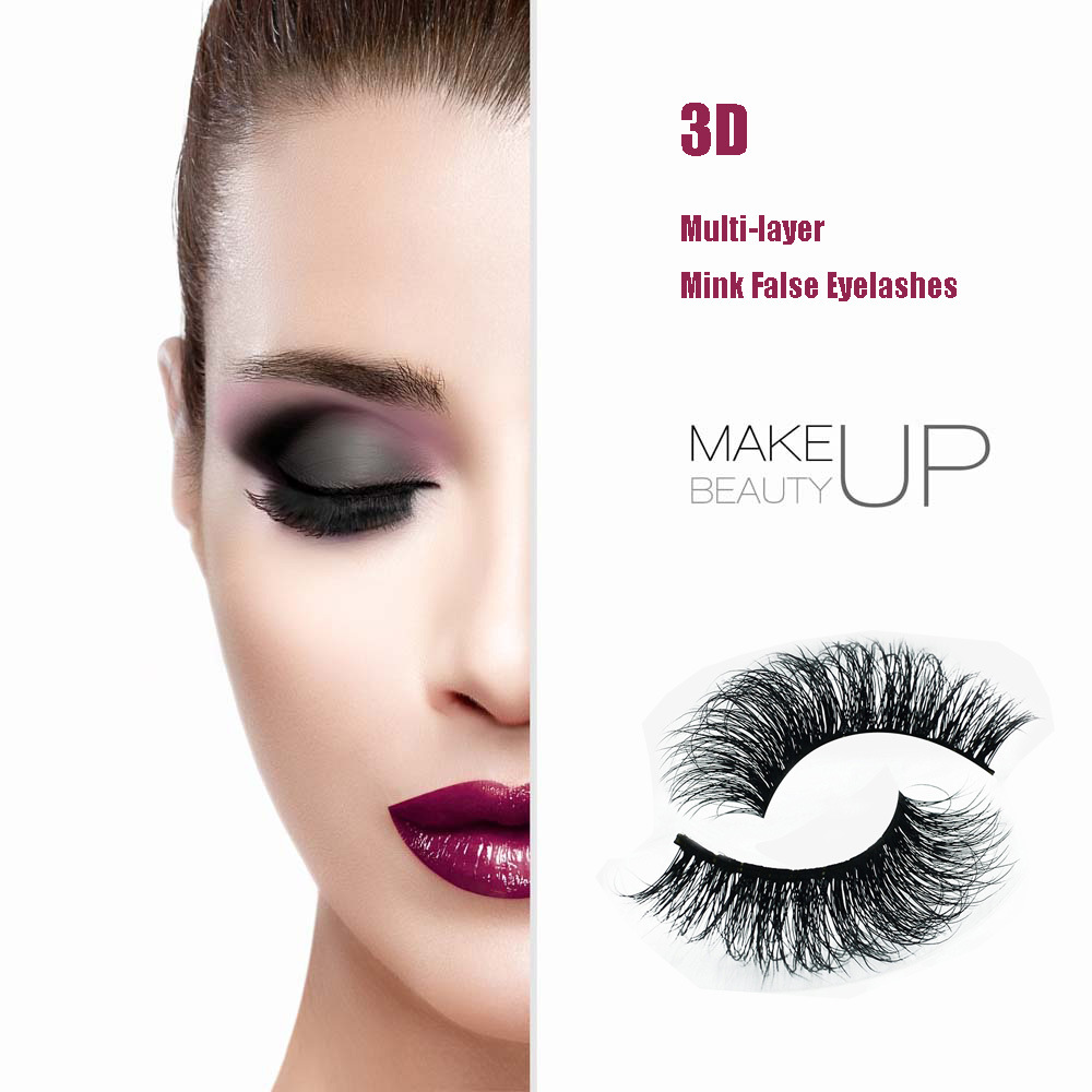 3D Multi-Layer Natural Hair Hand Made Eyelashes Soft False Eyelashes