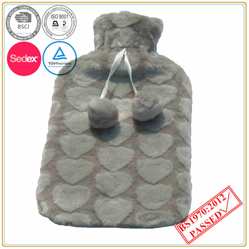 Heart Design Hot Water Bottle Cover