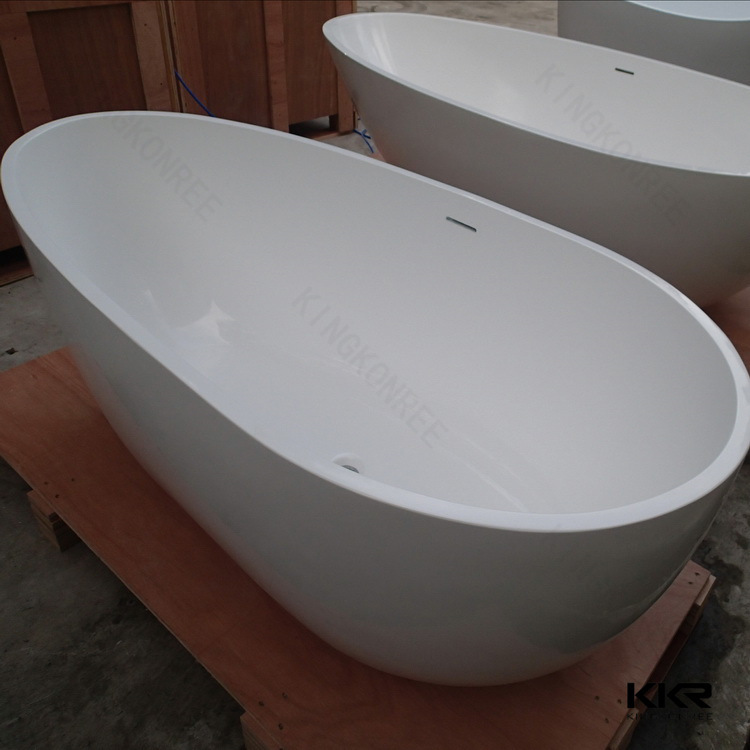 Simple Modern Black Solid Surface Free Standing Bathtub (BT170627)