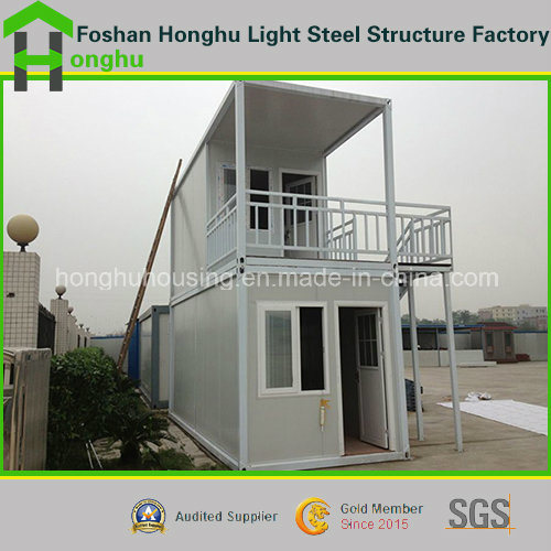 Prefabricated House 2 Floor Steel Building Office Container House for Sale