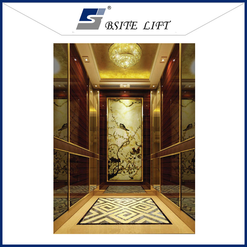 Luxurious Passenger Elevator with Gearless Traction Machine