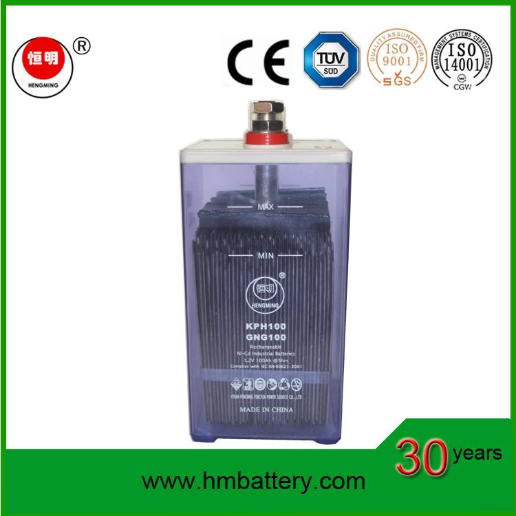 Nickel-Cadmium Rechargeble Batteries 100ah for Sale