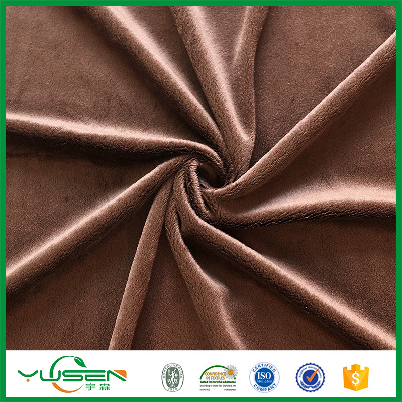 100% Poly Warp Suede Velvet Fabric for Hometextile
