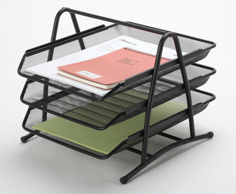 Office Desk Trays/ Metal Mesh Stationery File Tray/ Office Desk Accessories