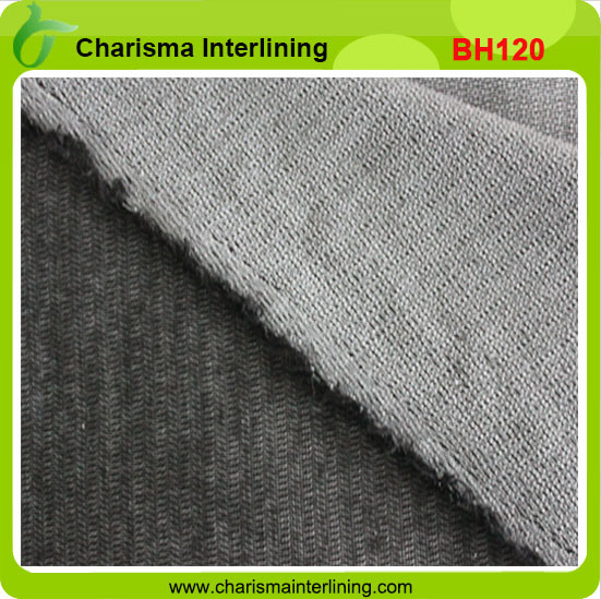 Weft Insert Woven Fusible Bi-Stretch Interlining for Suits