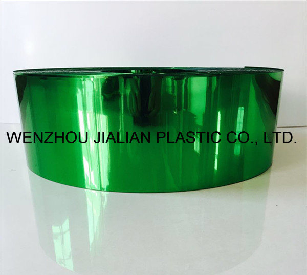 Rigid Metalized PVC Film/Sheet of Both Sides Green Color for Garland Decorations