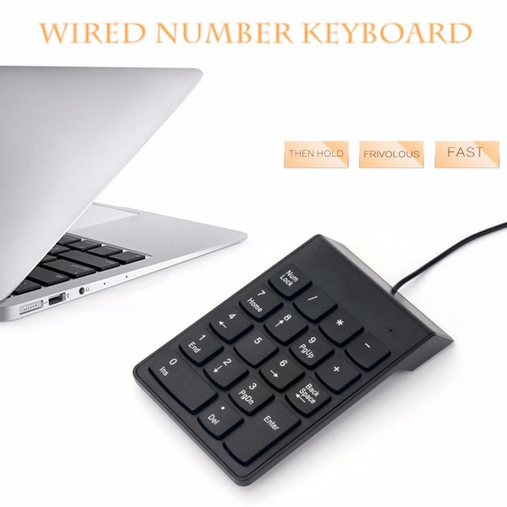 Portable Slim Mini Wired USB Number Pad Numeric Keypad Keyboard