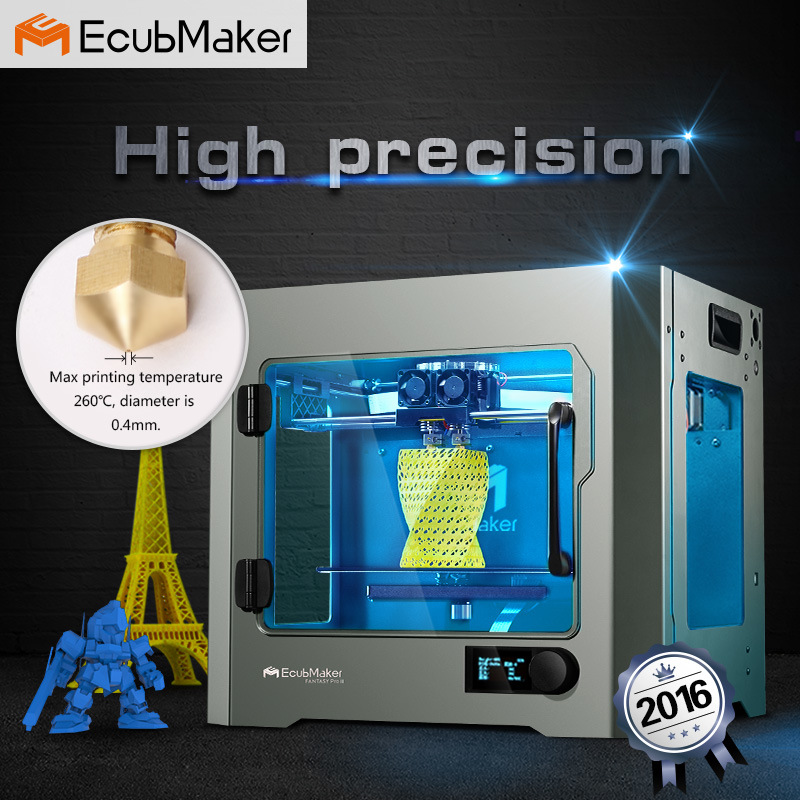 2016 Ecubmaker High Precision 3D Printer Machine Fantasy PRO II